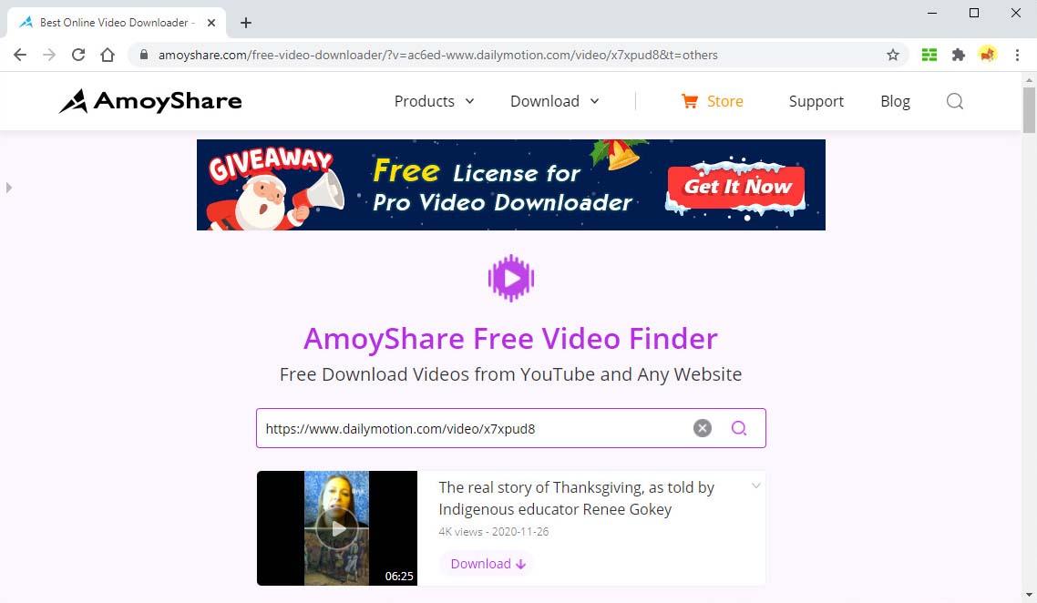ابحث عن فيديو Dailymotion