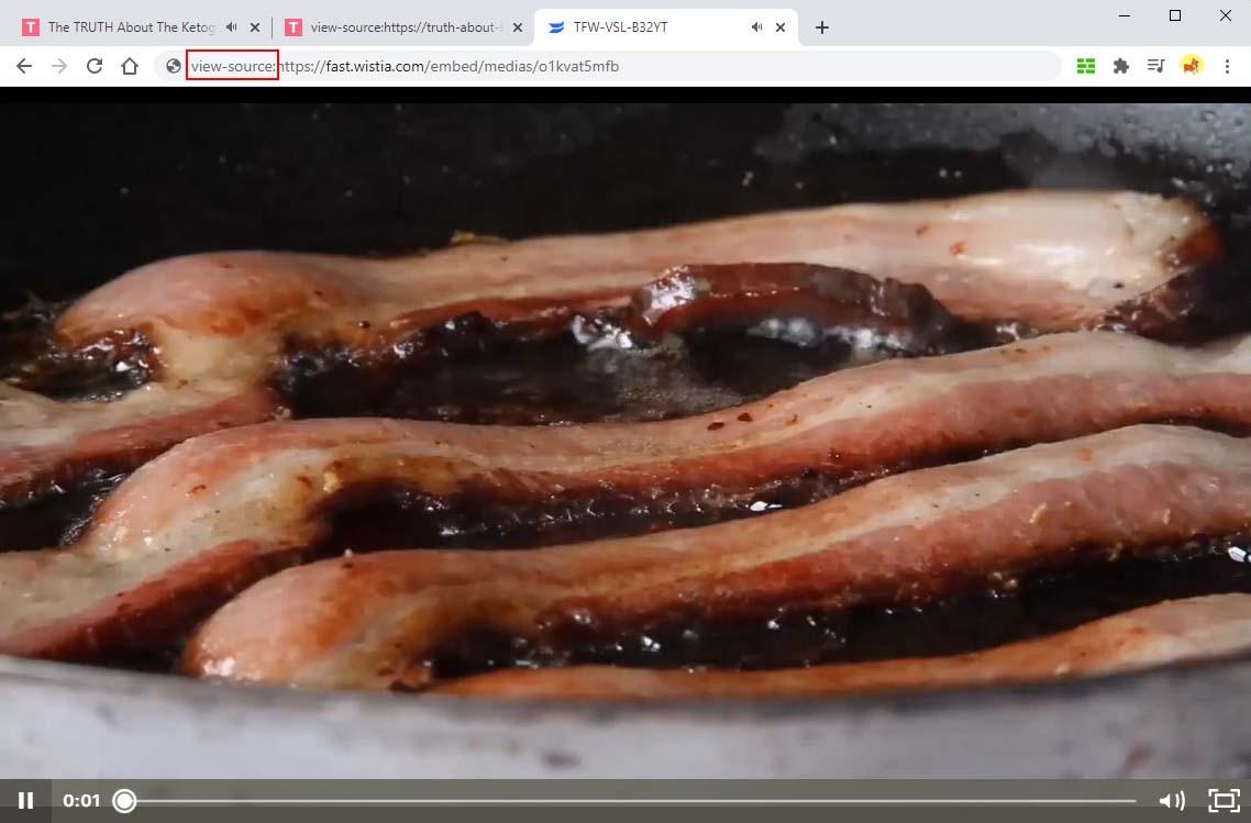 Visualizza la fonte della pagina del video di Wistia