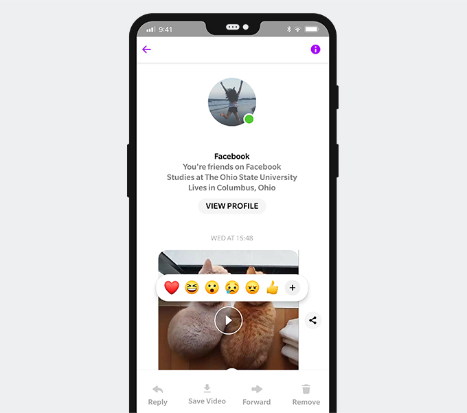 Save a video from Facebook Messenger