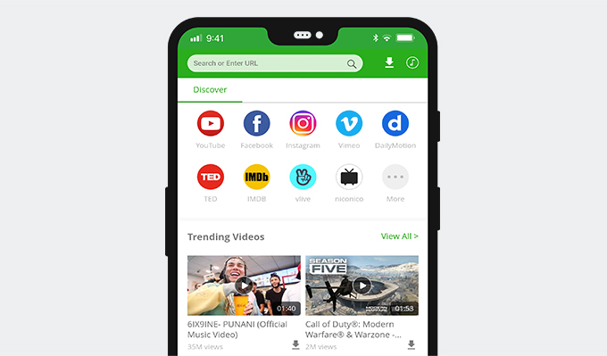 AnyVid video downloader for Android