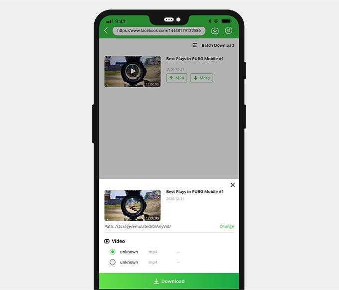 Laden Sie das Facebook-Live-Video herunter