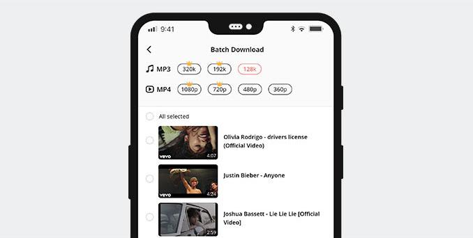 AndroidでYouTubeプレイリストをダウンロード