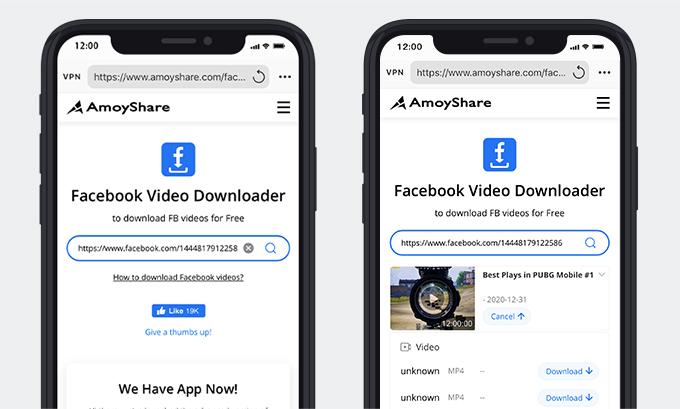 Fügen Sie den Link ein und laden Sie das Facebook-Live-Video herunter