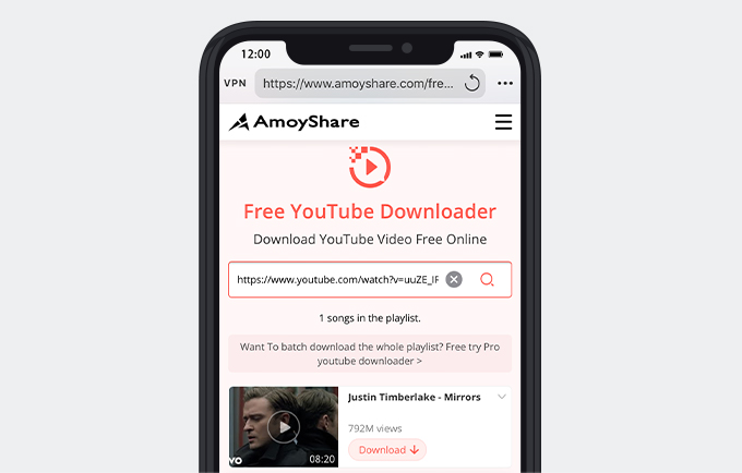 YouTubeプレイリストのURL検索