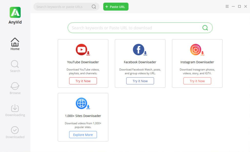 AnyVid - best Facebook video downloader