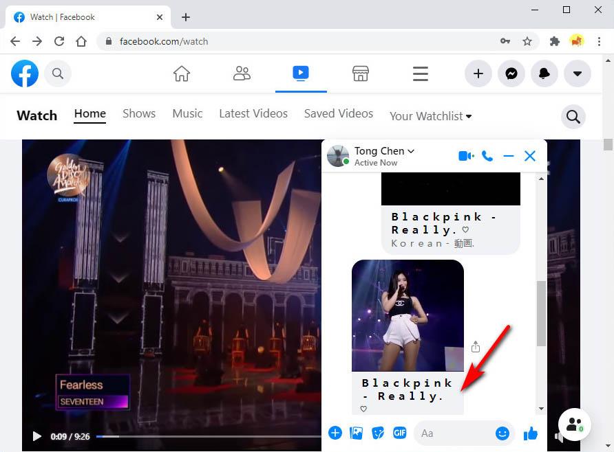 Hit the Messenger video link