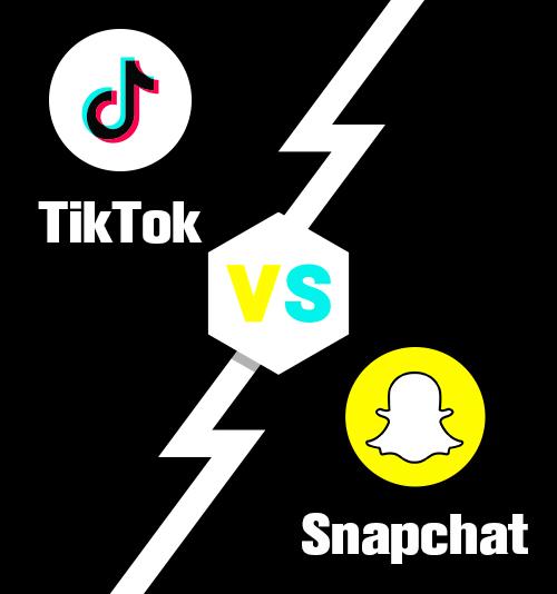TikTok مقابل Snapchat