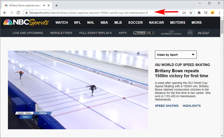 Kopieren Sie einen Link von NBCSports