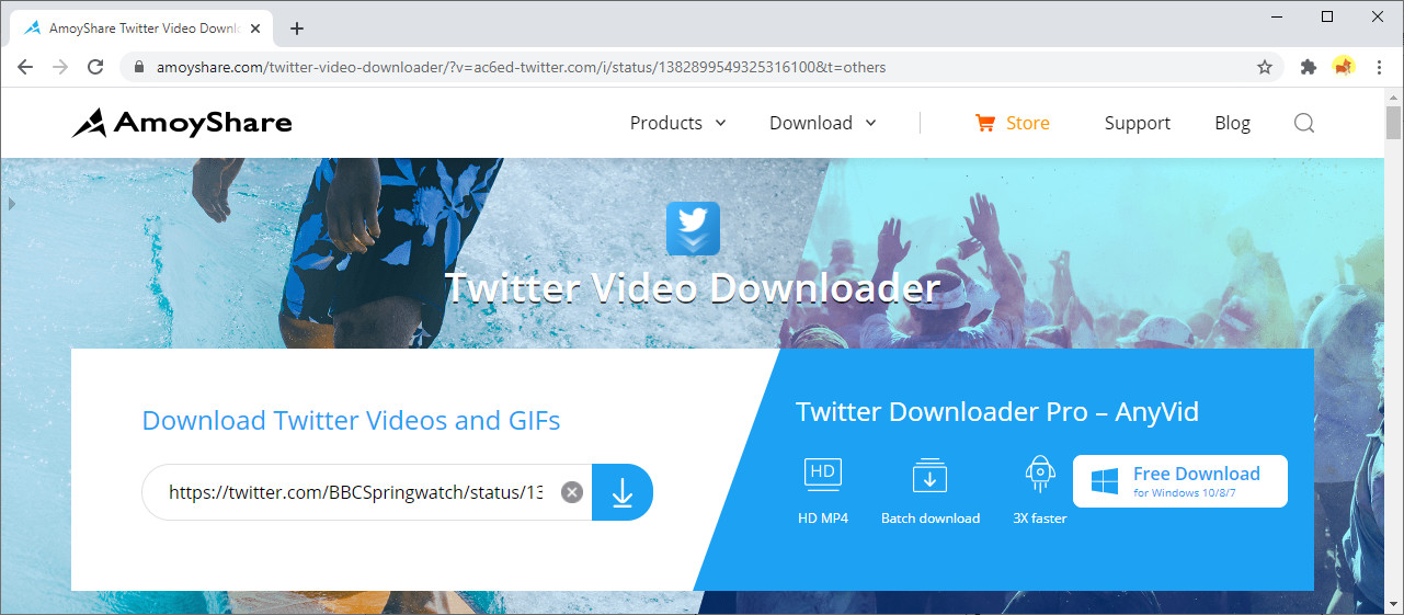 Get the URL of the Twitter video