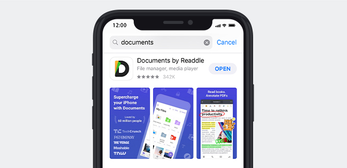 Download Documents by Readdle app