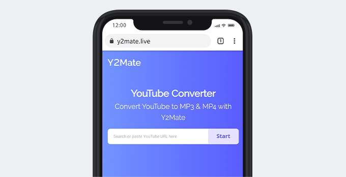 Facebook to MP3 converter Y2Mate for iPhone