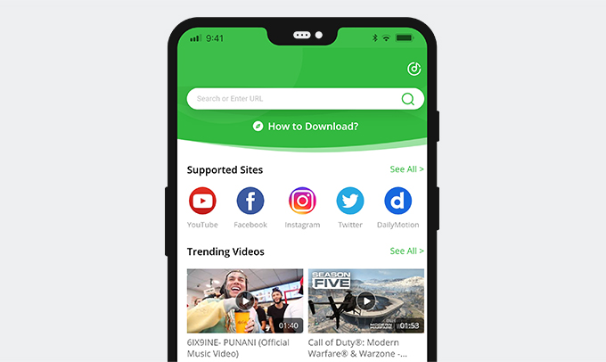Download Facebook saved video with AnyVid downloader