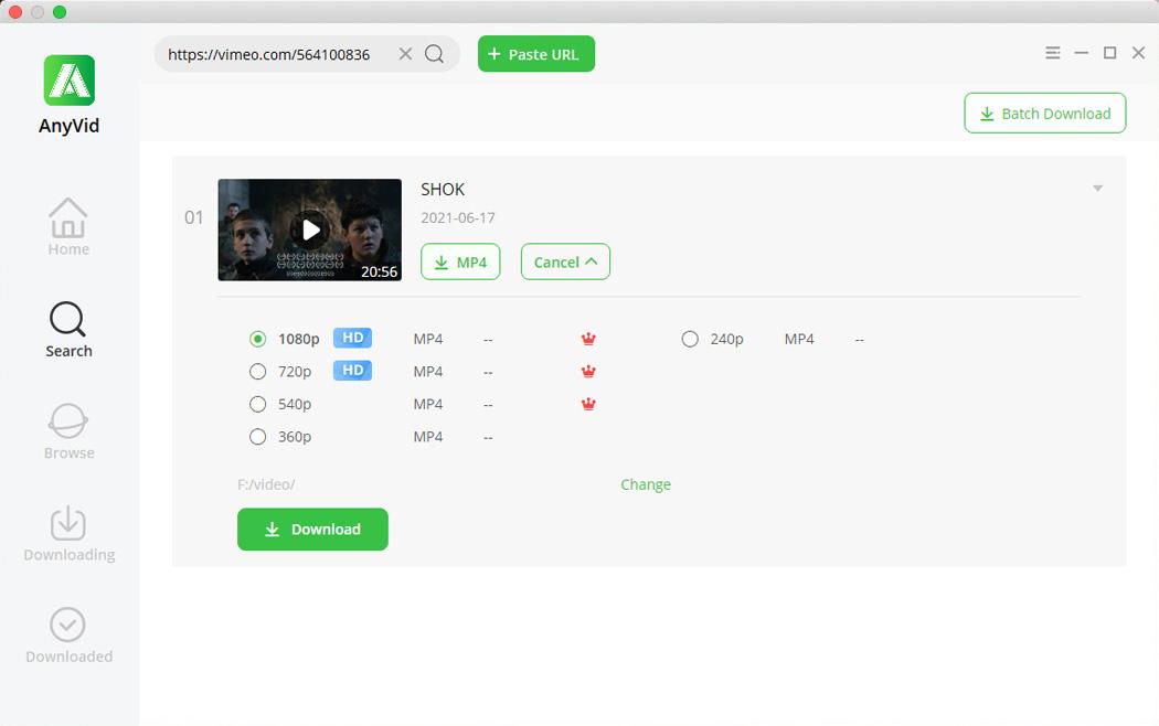Download Vimeo video on Mac