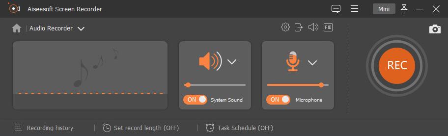 Configure the audio settings