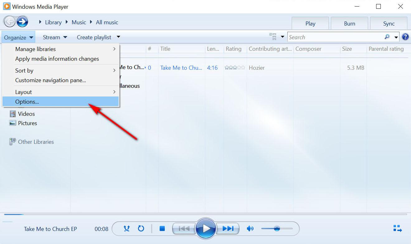 كيفية تحويل WMA إلى MP3 باستخدام windows media player