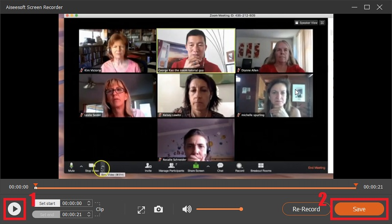 Save the recorded Zoom meeting