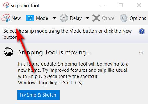 Screenshot auf einem HP Laptop mit dem Snipping Tool