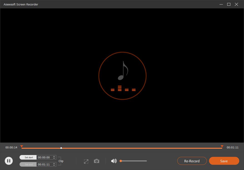 Save the audio recording