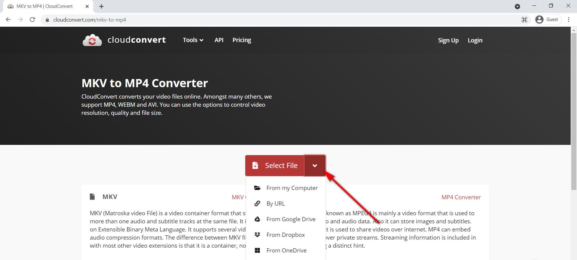كيفية تحويل MKV إلى MP4 عبر الإنترنت