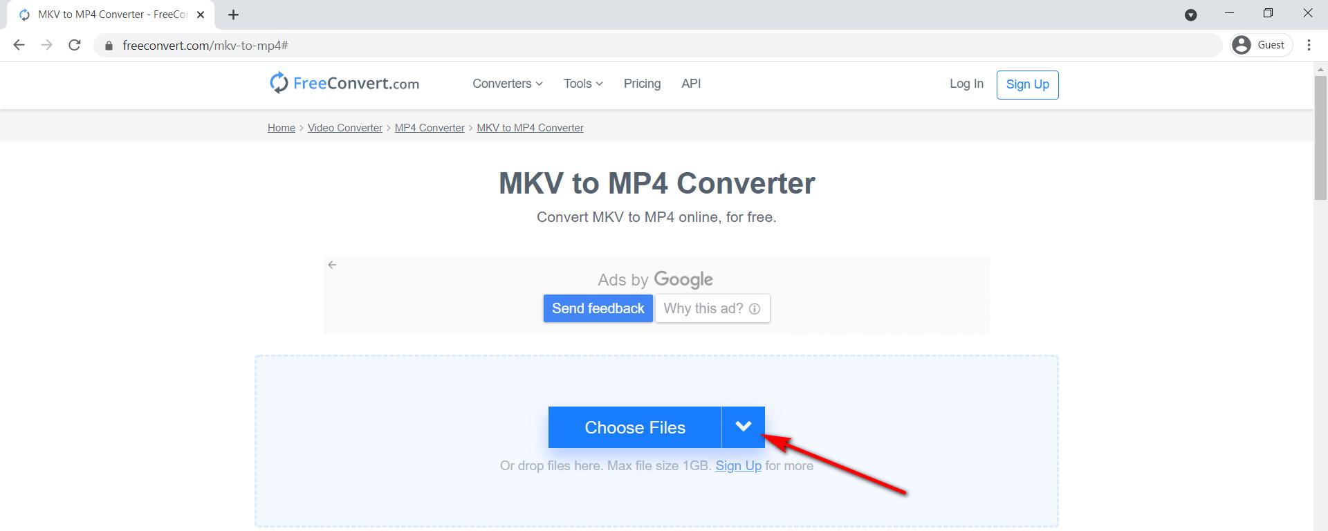 استخدم FreeConvert لتحويل MKV إلى MP4 عبر الإنترنت مجانًا
