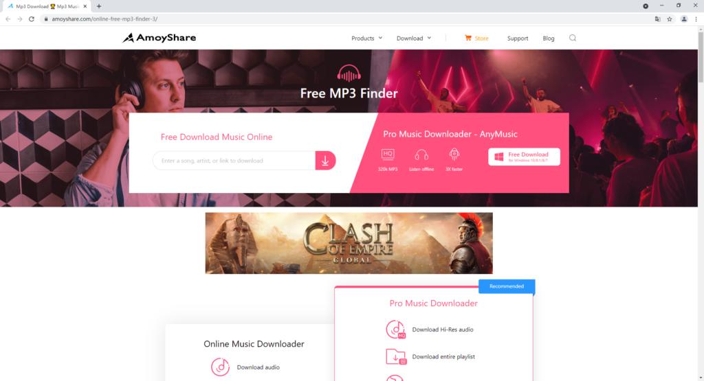 AmoyShare Free MP3 Finder