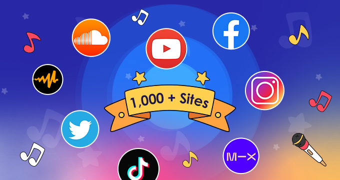 Download music from 1,000+ streaming sites