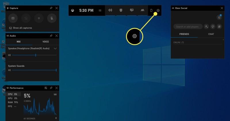 Windows 10 built-in screen recorder - Xbox Game Bar