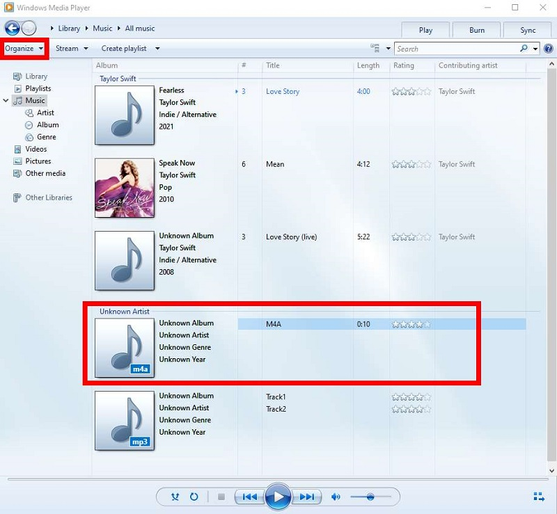 Convert M4A to MP3 Using Windows Media Player