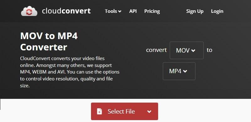تحويل MOV إلى MP4 Online