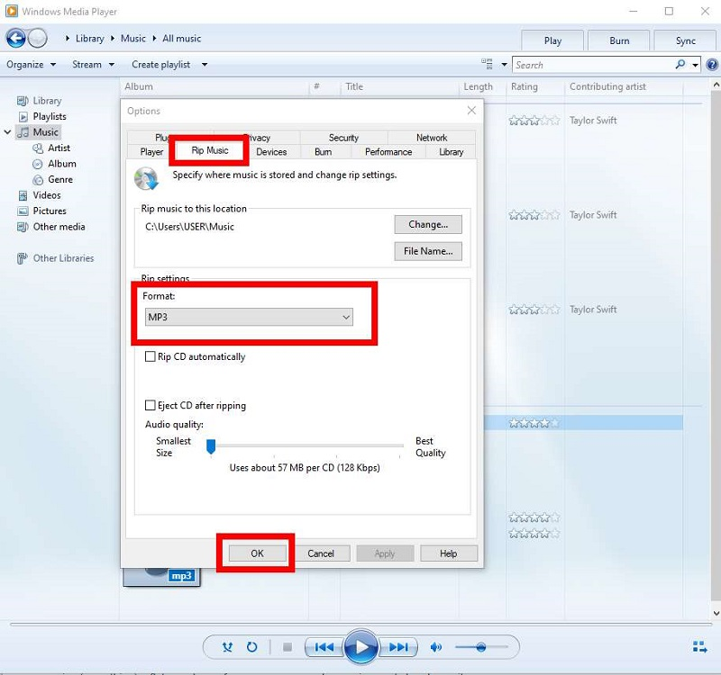 Play the converter MP3 file