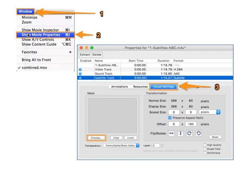 Zuschneiden eines Videos mit QuickTime Pro