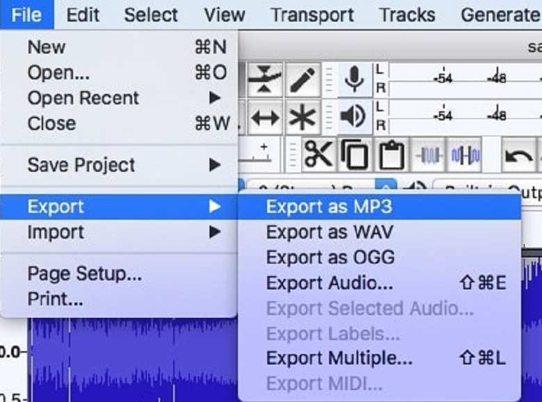 Convert M4A to MP3 with Audacity